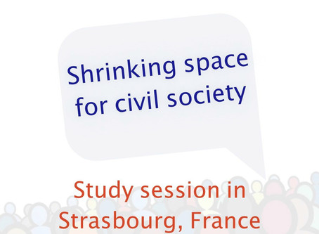 """Study Session """"Shrinking Space for Civil Society"""""""