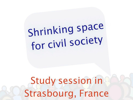 "Study Session ""Shrinking Space for Civil Society"""