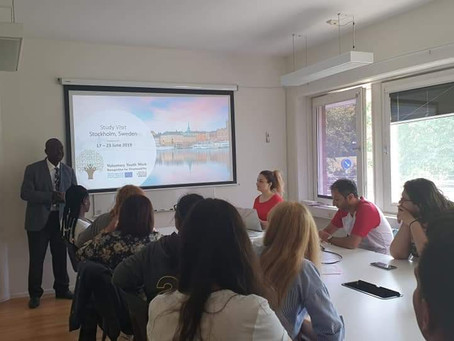 The youth workers were welcomed by the Swedish organisations