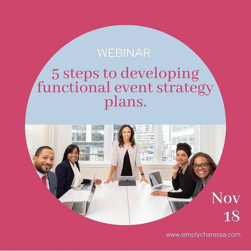 How to Develop Event Strategy Plans Webinar