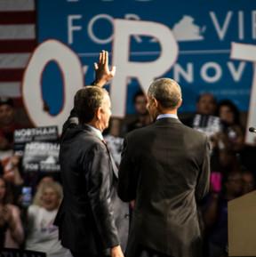 Former President Barack Obama and Gubernatorial Candidate Ralph Northam