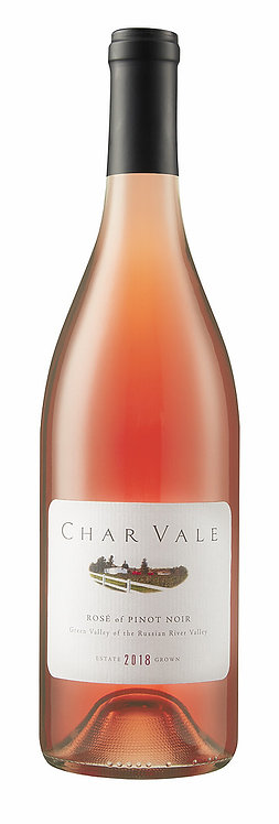 Char Vale 2018 Estate Rosé of Pinot Noir, Green Valley of Russian River