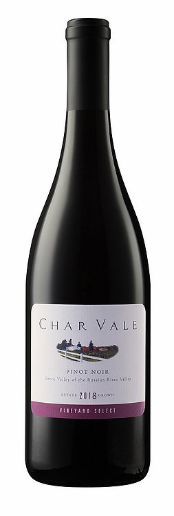 Char Vale 2018 Vineyard Select Estate Pinot Noir, Green Valley of Russian River