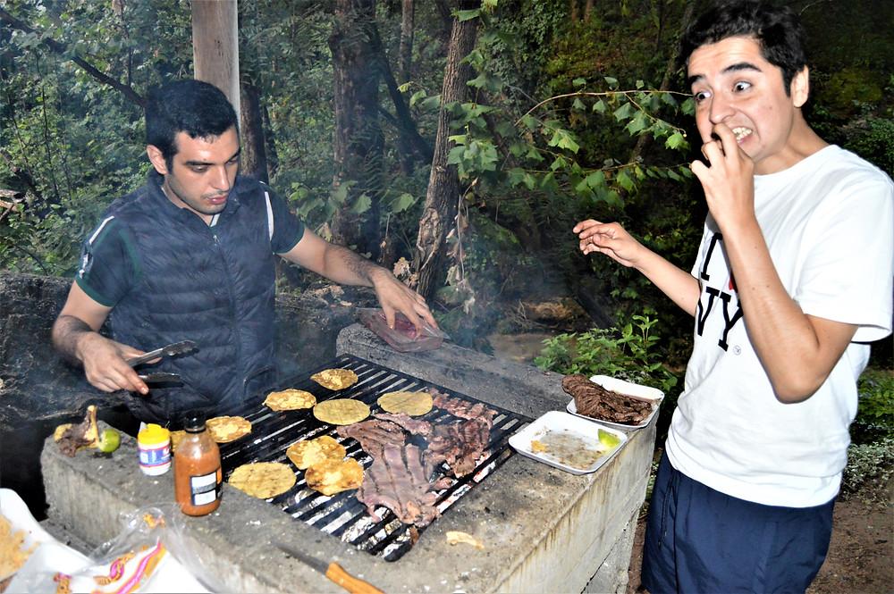 Barbecue with friends sierra regia