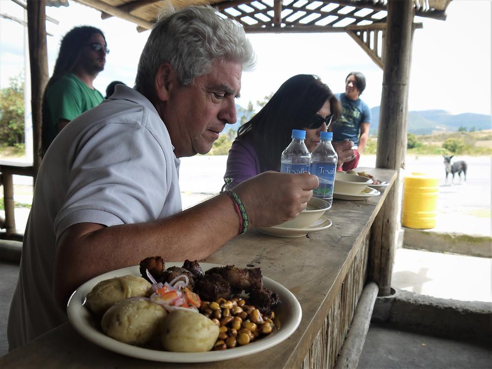Comiendo de menú Ecuador