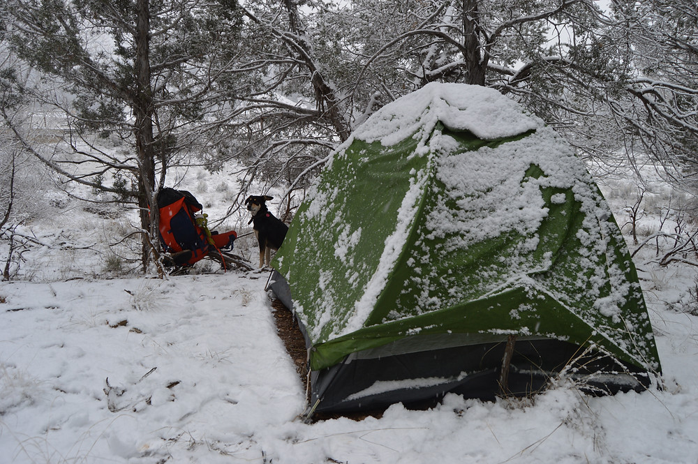 Snow wild camping