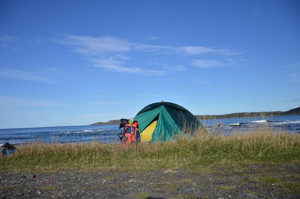 Acampada libre Terranova Canadá