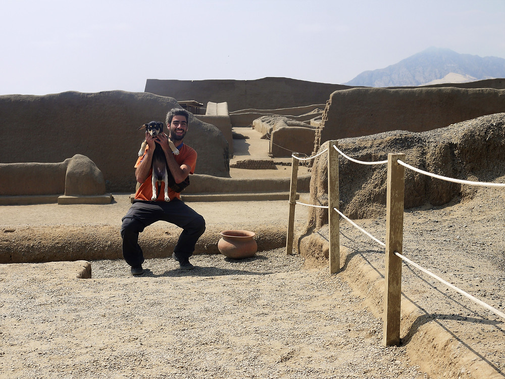 Chan Chan Archaeological Site with my dog