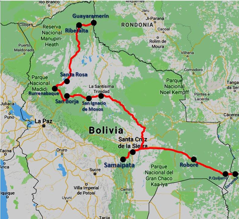 Bolivia Amazónica mapa