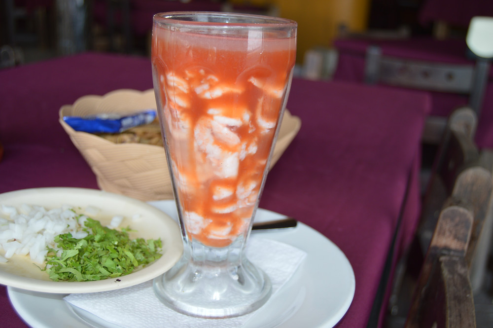 Shrimp and seafood cocktail Campeche