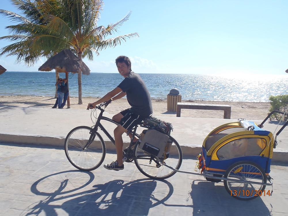 Merak and Telera Traveling with dog by bike