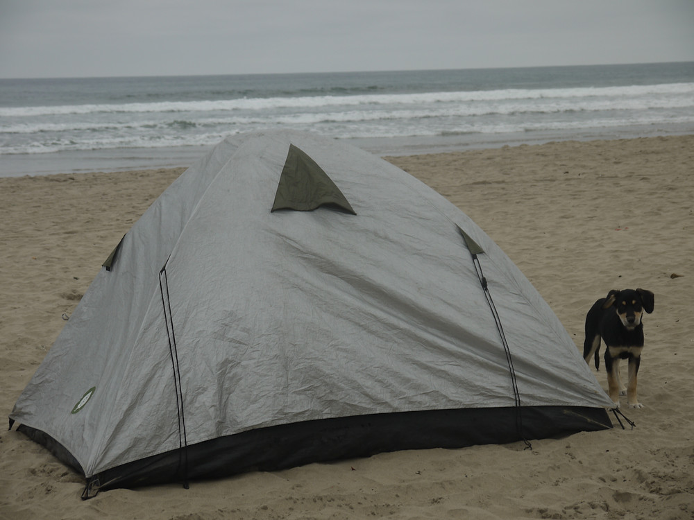 Beach wild camping