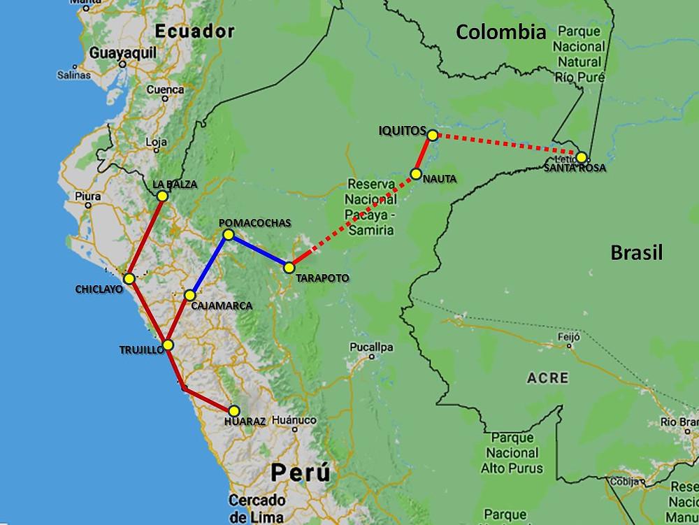 Northern Peru map