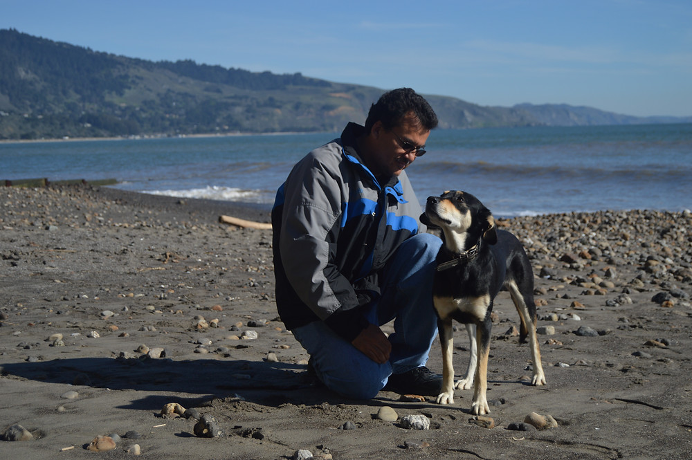 Bolinas Beach with my dog