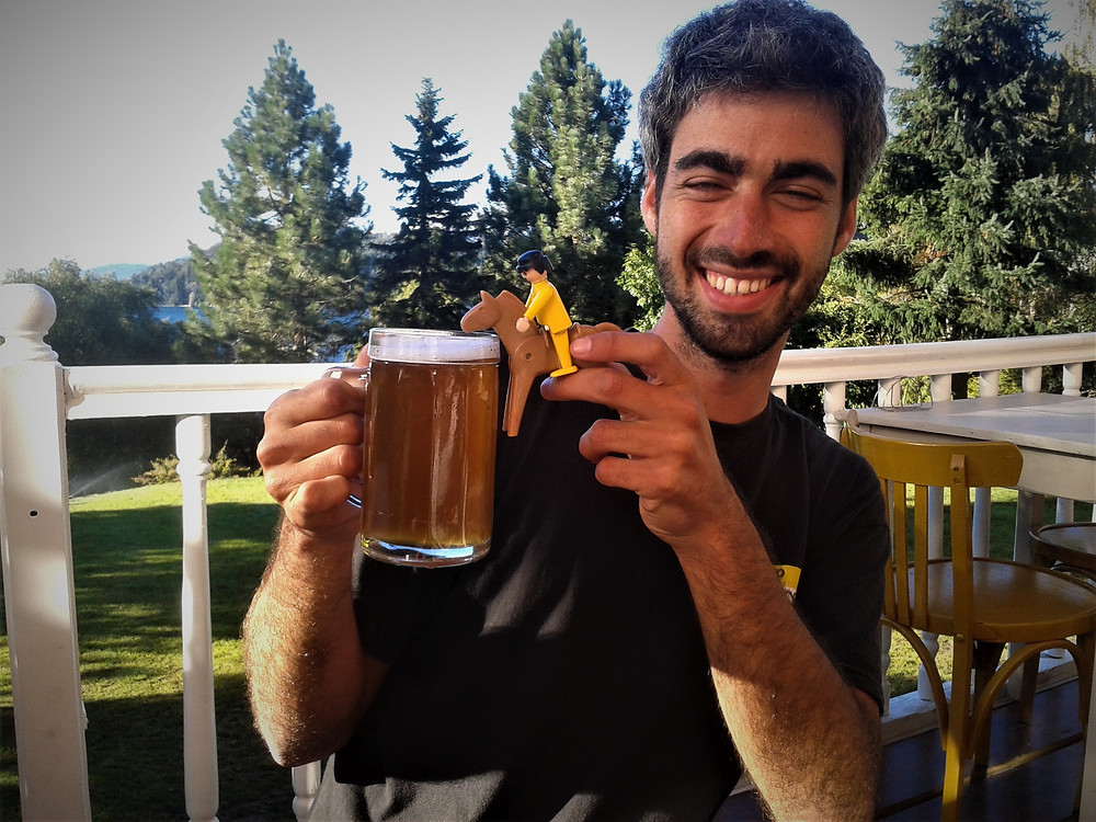 ¡Qué feliz me hace la cerveza! Bolsón Argentina