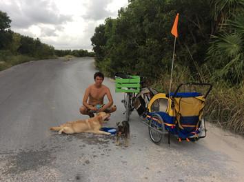 Merak y Telera: mi primer viaje en bici con mi perra
