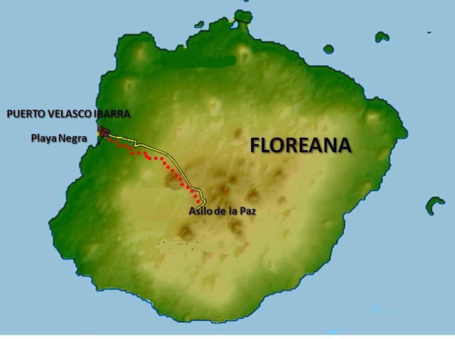 Floreana mapa