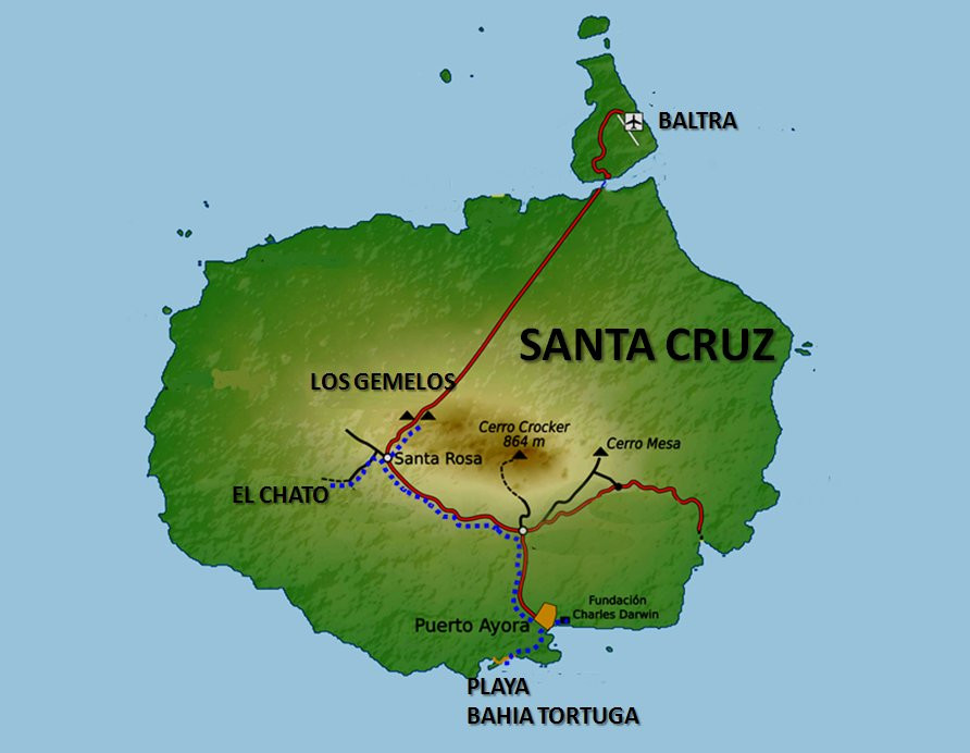 Santa Cruz mapa