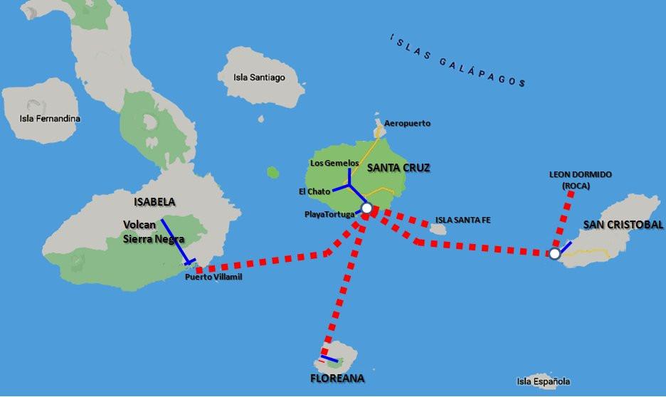 Galápagos mapa