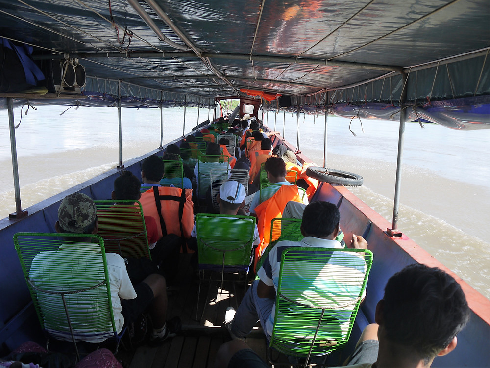 Traveling by boat Amazon river Peru