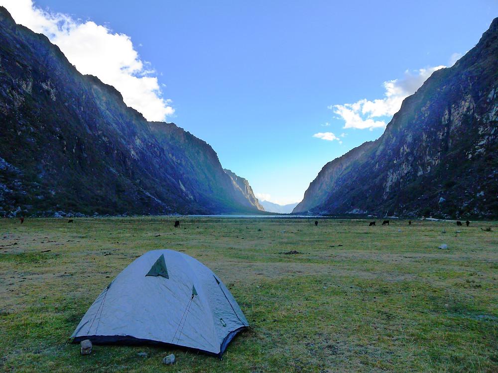Wild camping Huascaran National Park