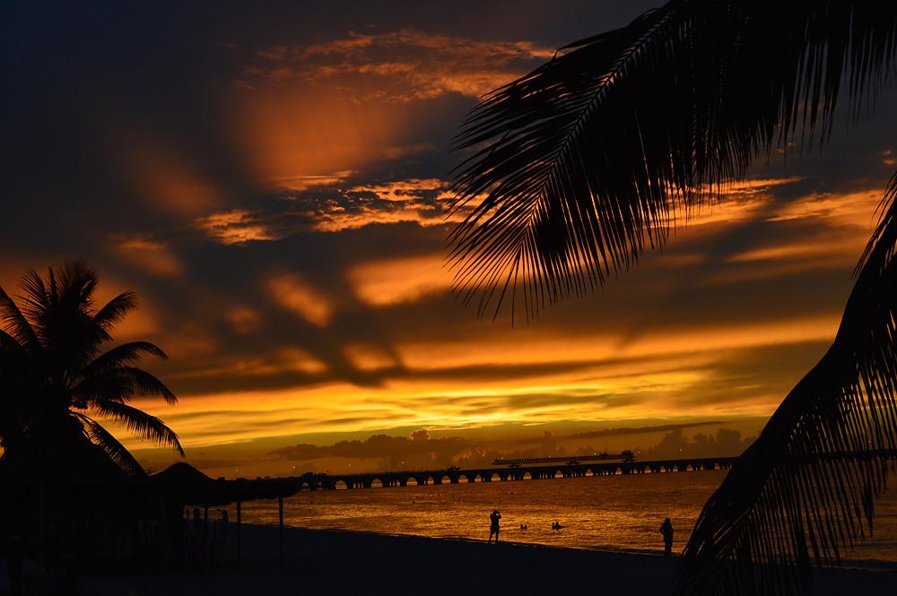 Amazing sunsets Progreso Yucatan