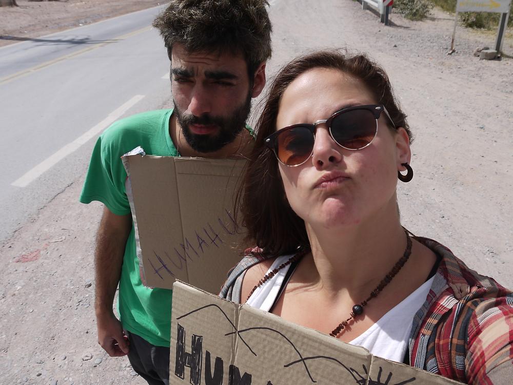 Hitchhhiker woman
