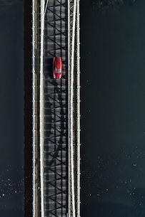 marlow bridge red car poster