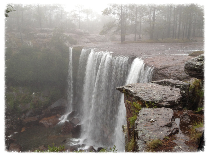 The cascada ('waterfall') at Mexiquillo