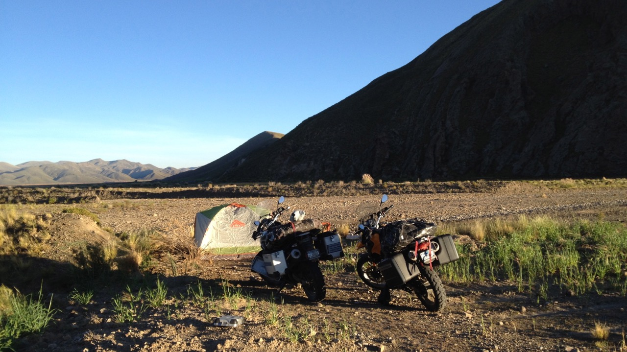 Camping near Potosí, Bolivia