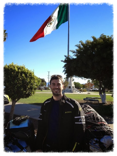 Greg, Moxie, and the flag of Mexico