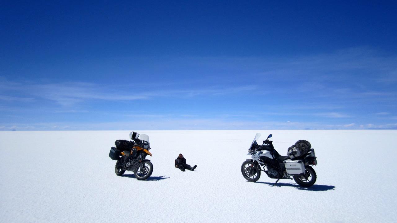 Jess rests - Salar de Uyuni, Bolivia