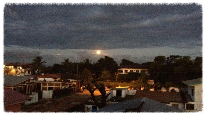 Monrovia at night