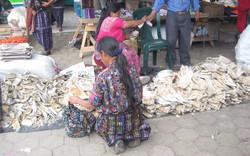 Dried fish at Friday market - Solola, Guat