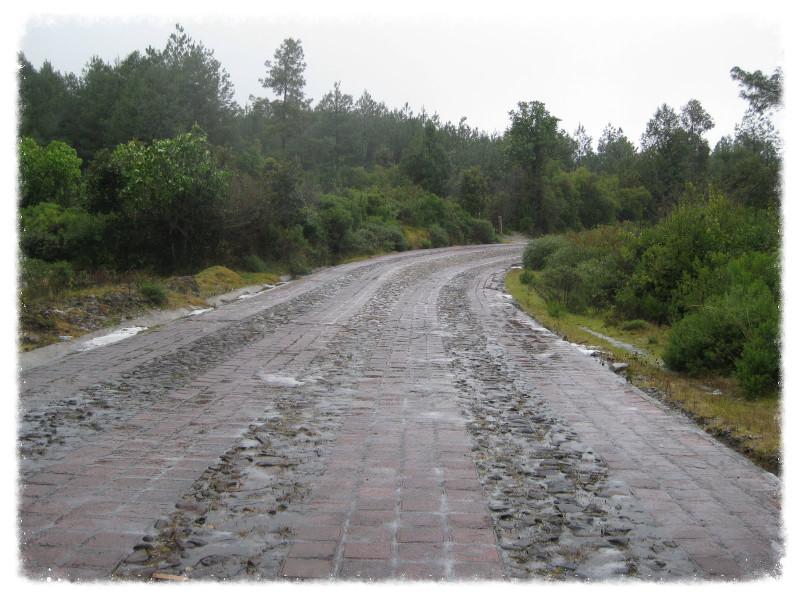 The road to Angangueo
