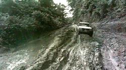 Highway in rainy season - Liberia