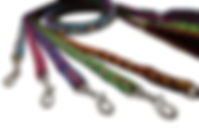Handmade durable and colorful dog leashes in variety of brilliant colors