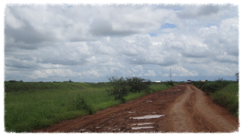 Road to UNMISS log base in Malakal