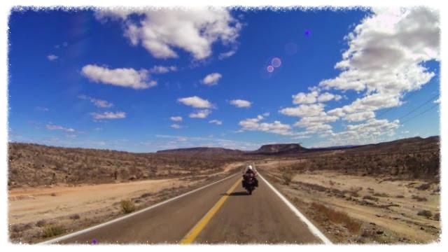 Jess rides the Carretera 1 desert