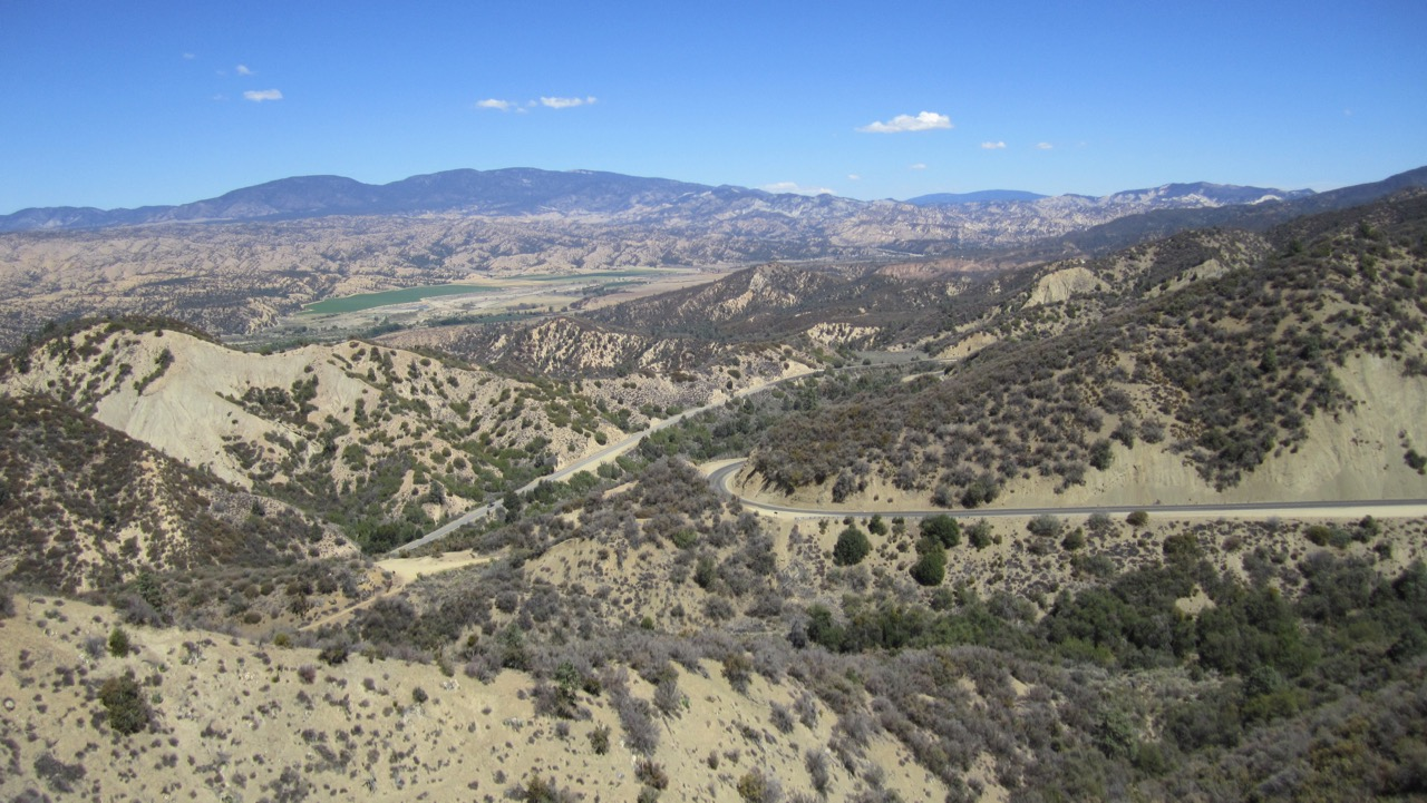 View of Los Padres National Forest - Highway 33, CA, USA