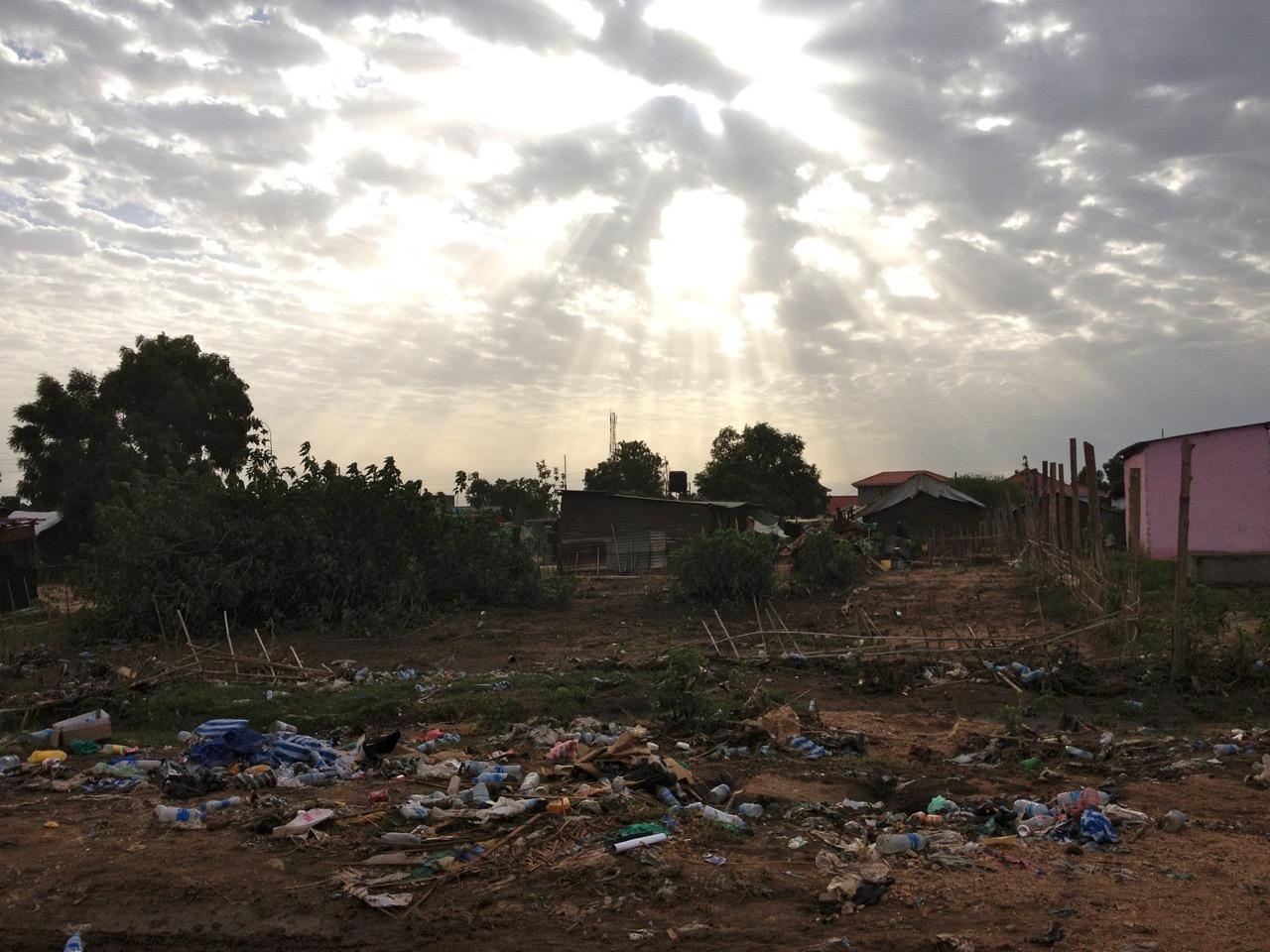Sky over garbage - Juba, South Sudan