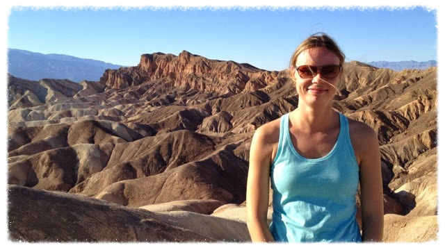 Jess at Zabriskie Point in Death Valley