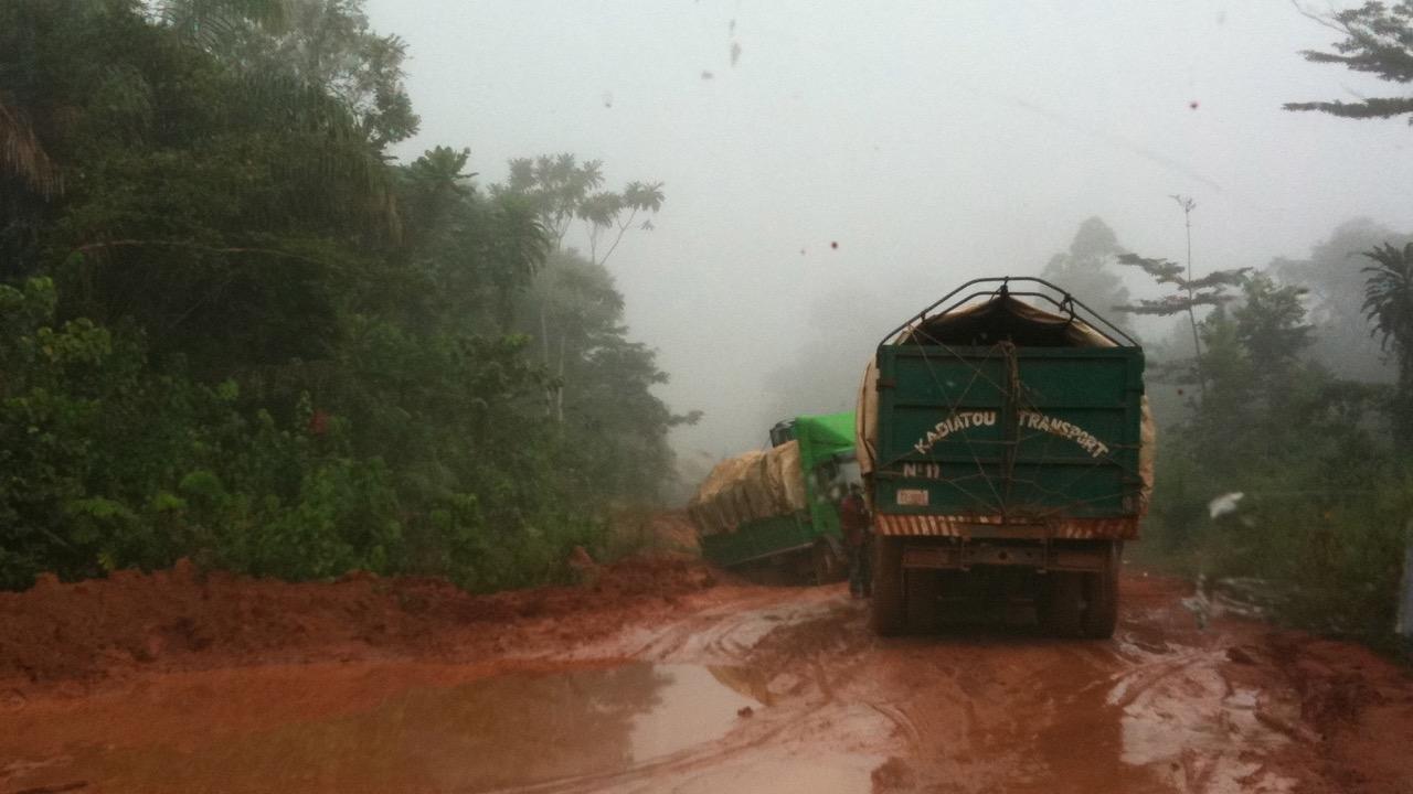 Liberia highways in the 'dry' season - Nimba County, Liberia