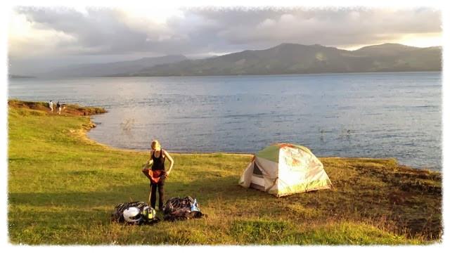 Jess makes camp, while I photograph
