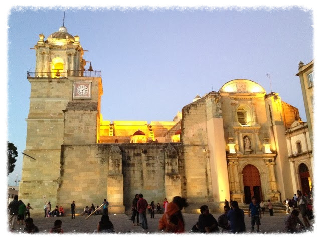 The Cathedral and lovely plaza of Oaxaca