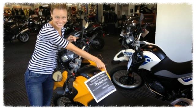 Jess's new motorbike