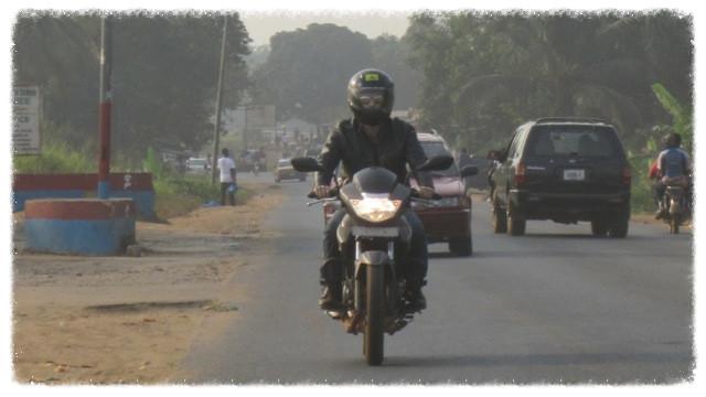 Greg rides to Robertsport