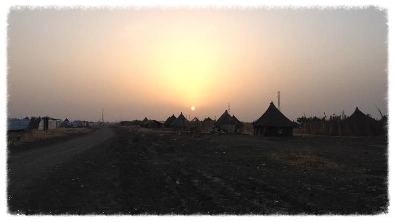 Sunset over Hai-Salam, Malakal