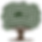 Simple icon of tree in brown and green