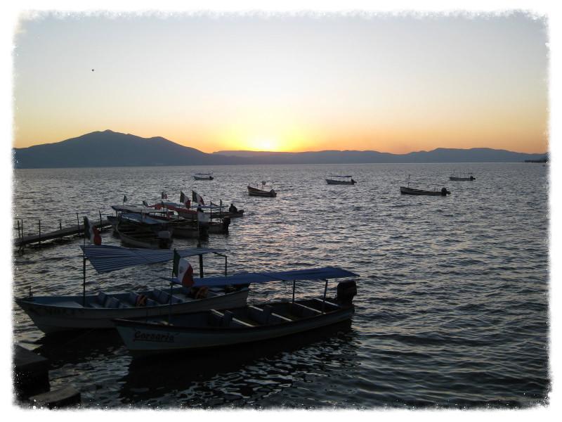 Boat scene from Chapala